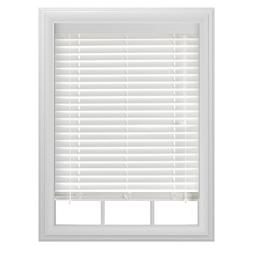 "Bali 2"" Room Darkening Faux Wood Blind, White"