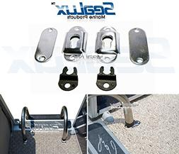 sealux stainless steel surface mounting sockets brackets