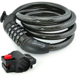 Lumintrail Security 4 Digit Combination Bike Cable Lock w/ M