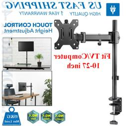 Single Arm TV LCD Monitor Desk Mount Stand Bracket Swivel ±