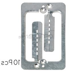 Single Gang Low Voltage Wall Plate Steel Drywall Mounting Br