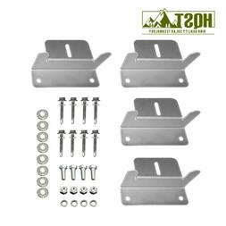 Hqst Solar Panel Mounting Z Brackets With Nuts And Bolts 4 P