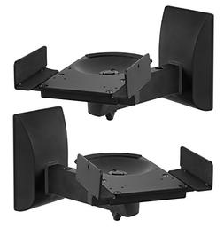 Mount-It! Speaker Wall Mounts, Pair of Universal Side Clampi