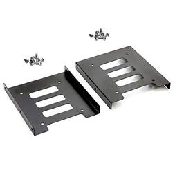 """Pasow 2 Pack 2.5"""" to 3.5"""" SSD HDD Hard Disk Drive Bays Holde"""