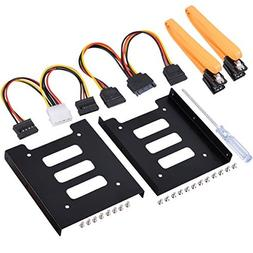 UCEC 2.5 Inch SSD to 3.5 Inch Internal Hard Disk Drive Mount