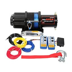 X-BULL 12V 4500LBS Synthetic Rope Electric Winch for Towing