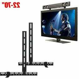 UNHO Universal Sound Bar Bracket Speaker Mount Below TV Wall