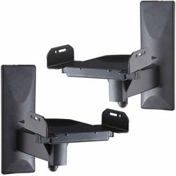 VideoSecu One Pair of Side Clamping Bookshelf Speaker Mounti