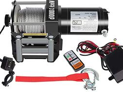 DCFlat 12V 3000LBS Wire Rope Electric Winch for Towing ATV/U